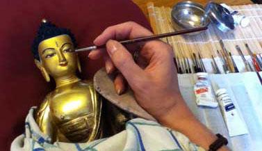 buddha-shakyamuni-statue-painting-by-carmen-mensink