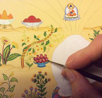 carmen-mensink-painting-tibetan-medicines