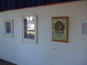 Tibetan art exhibition in Australia with the Mandala and Green Tara thangkas of Carmen Mensink