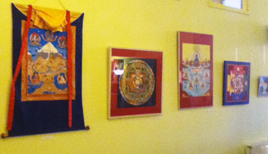 Exhibition of thangkas in Buddhist Center Maitreya Instituut, Amsterdam