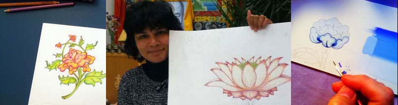 flowers-lotus-tibetan-art