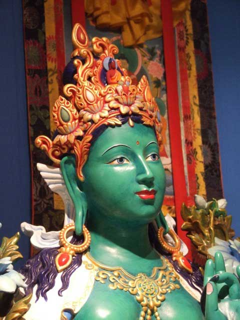 green-tara-statue-painted