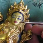 green-tara-statue-painting-carmen