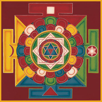 Tibetan Mandala of the Five Elements, painted by Carmen Mensink