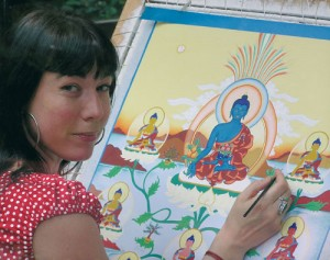 Carmen Mensink paints the 8 Medicine Buddhas
