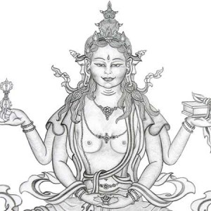 prajnaparamita-drawing-by-carmen-mensink