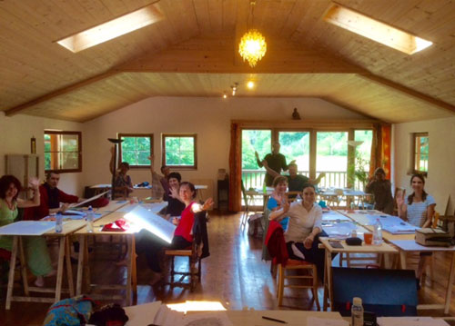Thangka painting retreat in Italy with Carmen Mensink