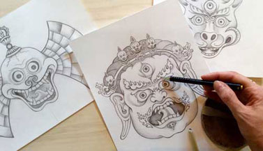 thangka-drawings-by-carmen-mensink