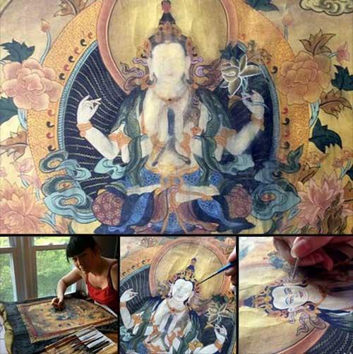 thangka-restoration-avalokiteshvara-chenrezig