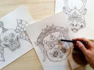 tibetan-masks-carmen-mensink