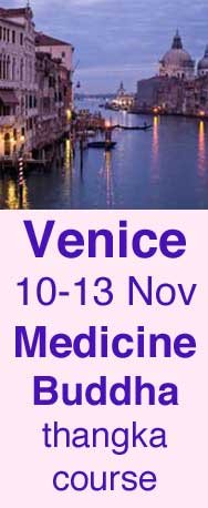 medicine buddha painting course in venice italy