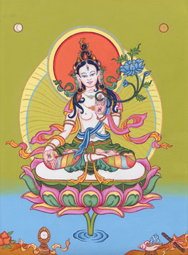 White Tara painted by Carmen Mensink
