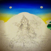 white-tara-painting-workshop-thangka-student-work