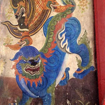 blue-lion-thailand-painting