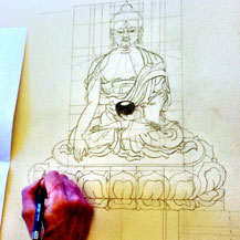 drawing-Buddha-with-carmen-mensink