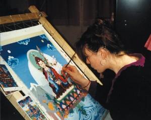 guru-rinpoche-thangka-by-carmen-mensink