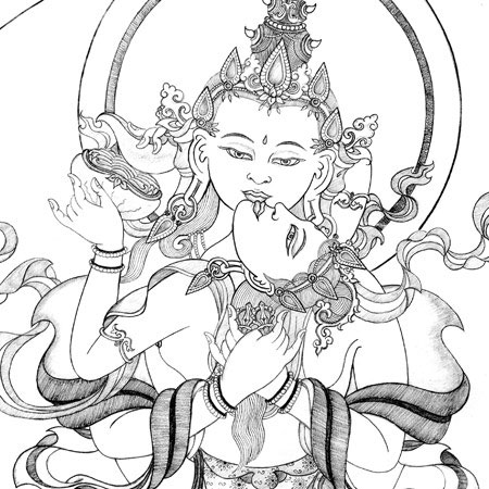 heruka-vajrasattva-thangka-drawing