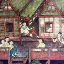 thai-painting-village-life