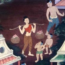 thai-village-life-mural