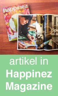 Carmen Mensink in Happinez Magazine