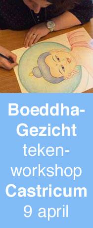 Teken het Gezicht van de Boeddha volgens de tibetaanse thangka traditie