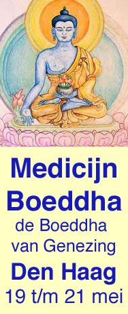 Medicijnboeddha, de Boeddha van Genezing tekenen volgens de tibetaans boeddhistische thangka traditie