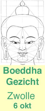 Leer een Boeddhahoofd tekenen volgens de tibetaans boeddhistische thangka traditie
