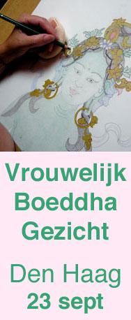 Vrouwelijke Boeddha Tara tekenen volgens de tibetaans boeddhistische thangka traditie